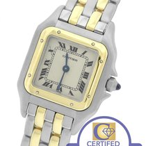 Cartier Panthere 18K Two Tone Gold Stainless White 22mm Quartz...
