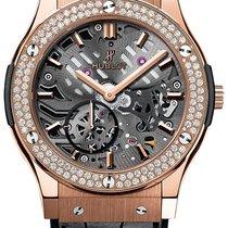 Hublot Classic Fusion Aero King Gold Diamonds Leather