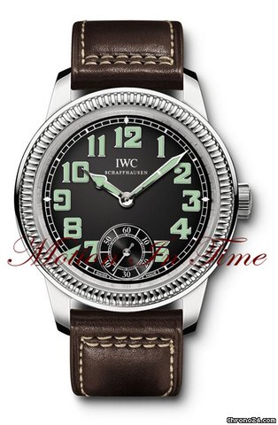 IWC Pilots Watch Hand-Wound &amp;#34;Vintage&amp;#34; Stainless Steel Black Dial