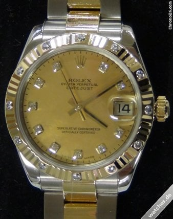 Rolex Datejust - Diamond hour markers