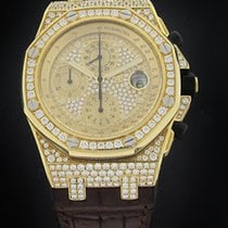 Audemars Piguet Yellow Gold Offshore Full Diamond Watch 26067BA