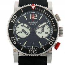 Hanhart Primus Diver Chronograph Stahl Automatik Armband...