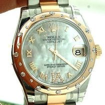 Rolex Ladies Midsize 178341 31mm 18k Rose Gold Stainless Steel...