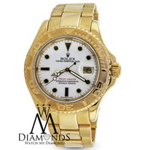 Rolex Yacht-master 16628 Solid 18k Yellow Gold White Dial...