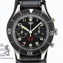 Heuer Bundeswehr Chronograph 3H Ref. 1550 SG Flyback Valjoux...