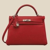 Hermès Rouge Casaque 28 Retourne Kelly II Taurillon Clemence