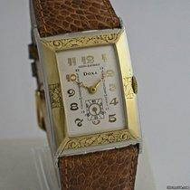 Doxa Art Deco vintage dresswatch bi-colour gold