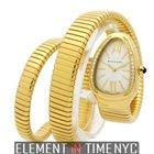 Bulgari Serpenti Ladies Tubogas 18k Yellow Gold Quartz 35mm...
