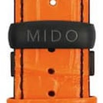 Mido Multifort Lederband orange 23mm M600012927