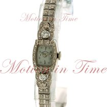 Hamilton Vintage Ladies, Silver Dial, Diamond Bezel - White...