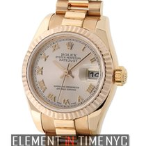 Rolex Datejust Lady President 18k Rose Gold Pink Roman Dial Y...