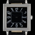 Piaget 18k White Gold Black Arabic Dial Altiplano Square 50930