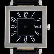 Piaget 18k White Gold Black Arabic Dial Altiplano Square 50930