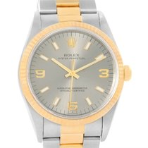 Rolex Non Date Mens Steel 18k Yellow Gold Watch 14233