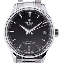 Tudor Style Date Stainless Steel Black Dial