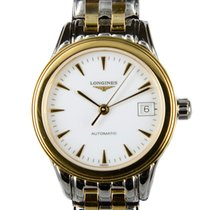 Longines Flagship 18k Gold Steel White Automatic L4.274.3.22.7