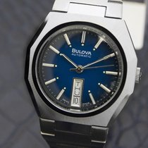 Bulova N6 Mens Swiss Made Automatic Day Date, Blue Dial,...