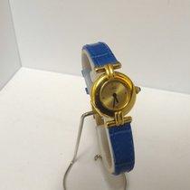 Cartier must de vermeil ladies silver 925/20 micron gold watch...