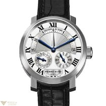 Pierre Kunz Spirit of Challenge 18K White Gold Leather Men`s...