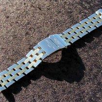 Breitling 20mm Chronomat Pilot Band Stahl Gold Np 3.190 Euro...