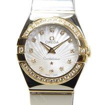 歐米茄 (Omega) Constellation 18k Gold Diamond Steel White Quartz...
