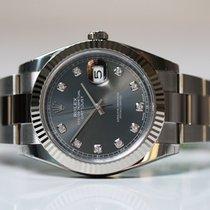 Rolex Datejust 126334 slate diamonds dial full set new model 2017