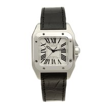 Cartier Santos Stainless Steel White Automatic W20106X8