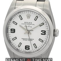 Rolex Air-King Stainless Steel White Dial 34mm Ref. 114200