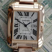 Cartier Tank Anglaise Medium Automatic 18K Pink Gold Unisex