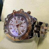 Breitling Chronomat Evolution Pilot Rose Gold Steel Roman Dial...