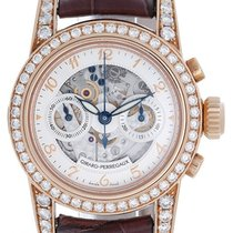 Girard Perregaux Skeleton Chronograph 18k Rose Gold Diamond...