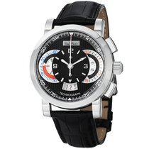 Paul Picot Technograph 44mm Chronograph Black Dial Men's...