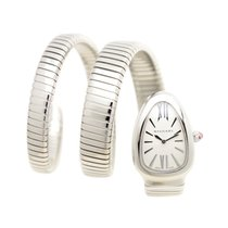 Bulgari New  Serpenti Stainless Steel White Quartz SP35C6SS2T
