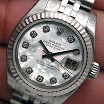 Rolex Datejust White Mother Of Pearl Diamond Dial 179174 Wow
