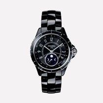 Chanel J12 Moon Phase Black Ceramic & Steel