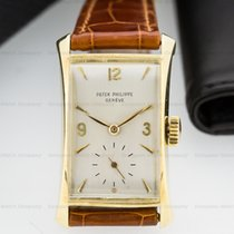 Patek Philippe 2468 Vintage Rectangle Flared Lugs 18K Yellow...