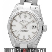 Rolex Datejust Ladies 26mm Stainless Steel White Index Dial...