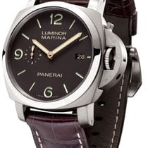 Panerai [NEW] PAM 351 Luminor Marina 1950 3 Day Titianium Tobacco