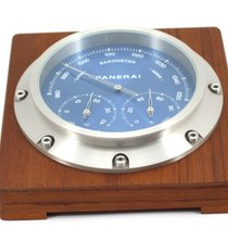 Panerai Table Clock PAM258 Blue Dial wood baro-hygro-thermometer