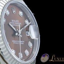 Rolex Lady-Datejust 18kt Weissgold Braun-Metallic Diamant 26mm...