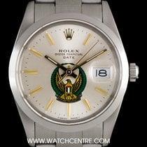 Rolex S/S O/P Silver UAE Crest Eagle Logo Dial Date B&P 15000