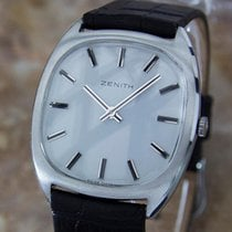 Zenith Swiss Made Rare Manual Mens Stainless Steel Dress Watch...