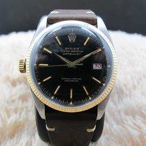 Rolex Datejust 6305 Left Handed Ovettone Bubbleback Gilt Dial...