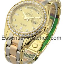 Rolex Unworn 18948 Tri Mens Tridor Masterpiece with Diamond...