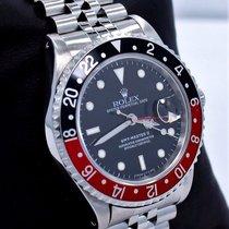 Rolex Gmt Master II Red/black Coke 16710 Bezel Jubilee Steel...