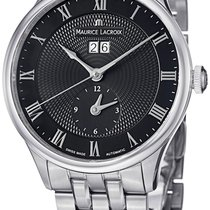Maurice Lacroix Masterpiece Tradition Date GMT Steel Mens...