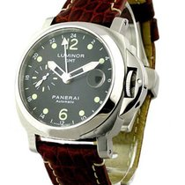 Panerai PAM00159 PAM 159 - Luminor GMT in Steel - on Brown...