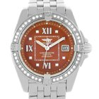 Breitling Windrider Cockpit Ladies Copper Diamond Dial Watch...