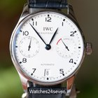 IWC Portuguese 7 Day Automatic Stainless Steel White Dial Blue...