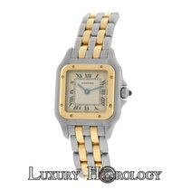 Cartier Mint Ladies Panthere 166921 Two Row Stainless Steel 22mm